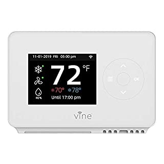Vine Smart WiFi 7day/8period Programmable Thermostat Model WI-FI TJ-225,Works with Alexa & Google Assistant,Environmental Protection No Battery