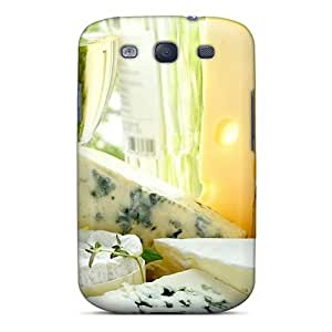 ZwTccSj6713MFtEl Case Skin Protector For Galaxy S3 Cheeses And Wine With Nice Appearance