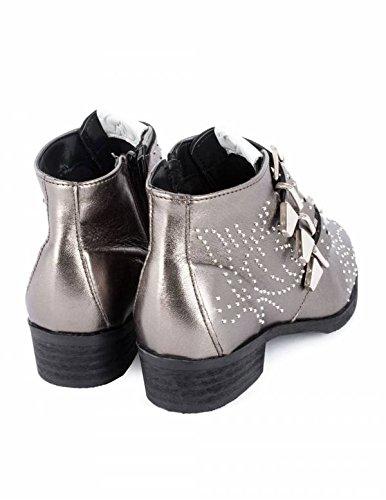 850fe2b7 Botines Tachuelas y Hebillas Plateados PERA LIMONERA - Color - Plata, Talla  Zapatos Mujer - 41: Amazon.es: Zapatos y complementos