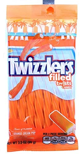 Twizzlers Filled twists Candy Orange Cream Pop