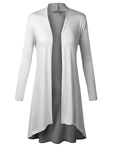 durable modeling BIADANI Women Open Front Drape Lightweight Duster Cardigan