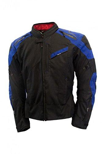 Oxford Men's Estoril Textile Jacket (Black/Blue, XXX-Large)