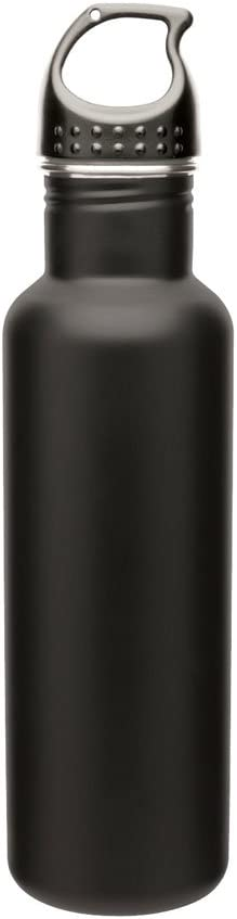 Capacity Matte Black Simply Green Solutions Stainless Steel Water Bottle Canteen 24oz
