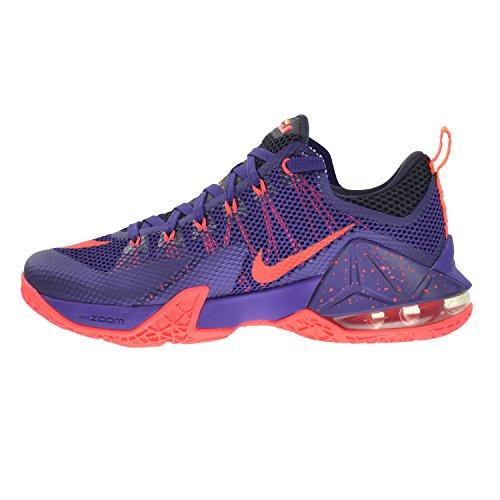 Nike Lebron Xii Chaussures Pour Hommes Court Violet / Lumineux Crimson-purple-laser Orange 724557-565