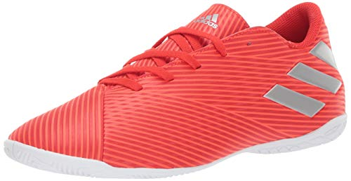 ca10422dc adidas Men's Nemeziz 19.4 Indoor Soccer Shoe, Active Silver Metallic/Solar  Red, 9.5