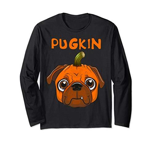 Funny Pugkin Pug Pumpkin Dog Lover Halloween Party Costume Long Sleeve T-Shirt