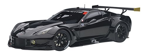 Chevrolet Corvette C7 R Plain Black Version 1/18 Model Car by Autoart 81651 Version Diecast Car Model