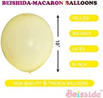 100 Pack 10 Inch Thicken Light Yellow Balloons,Large Macaron Yellow Latex Helium Balloons for Birthday Wedding Reception Engagement Baby Bridal Shower Party Decorations Supplies