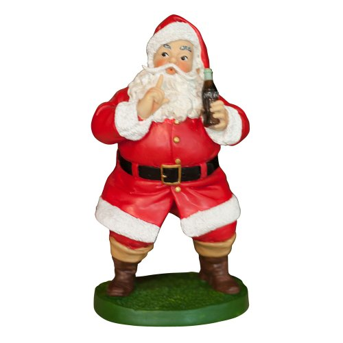 Sunbelt Marketing Coca Cola Keep Quiet Santa Figurine