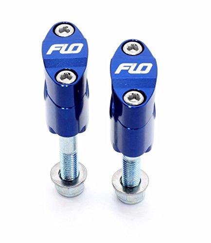 - Flo Motorsports Blue Rubber Mounted Universal Over-Sized 1 1/8 Handle Bar Mounts