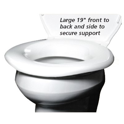 Bariatric heavy duty toilet seat supports 1200lbs and is 19""