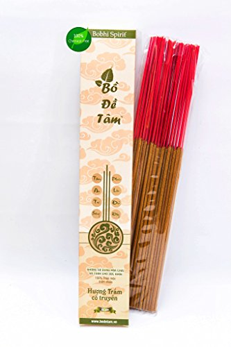 Bodhi Spirit Natural Agarwood Incense Stick - 11 inch - 68 Sticks - Chemical free, Hand blended and rolled