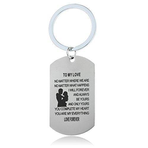 Wife Husband Tag Keychain Valentine's Day Anniversary Day Gift Boyfriend Men Jewelry