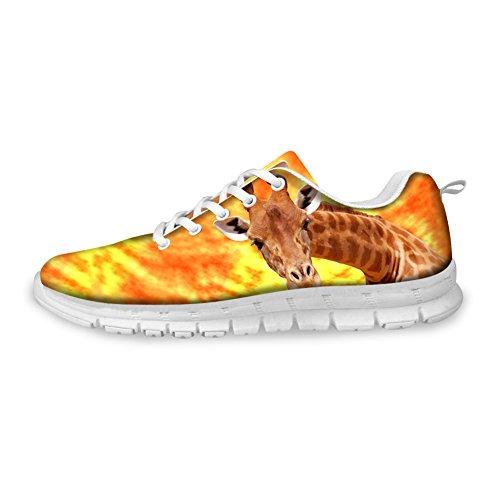 Abrazadera Idea 3d Animals Pattern Zapatillas Ligeras De Moda Para Hombre Jirafa