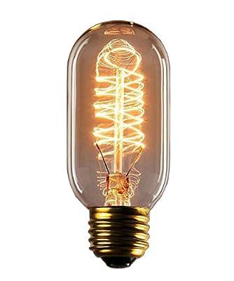 Vintage Edison Bulb - 25 Watt - T45 - Squirrel Cage Filament - Dimmable - 65 Lumen