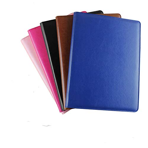 Amazon.com: Best Quality Hah A4 PU Leather File Folder Multi-Function Business File Folder Organizer for Documents Office Menu Holder Binder Student ...