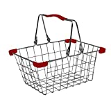 Childrens metal wire shopping basket by tanner. Great for role play