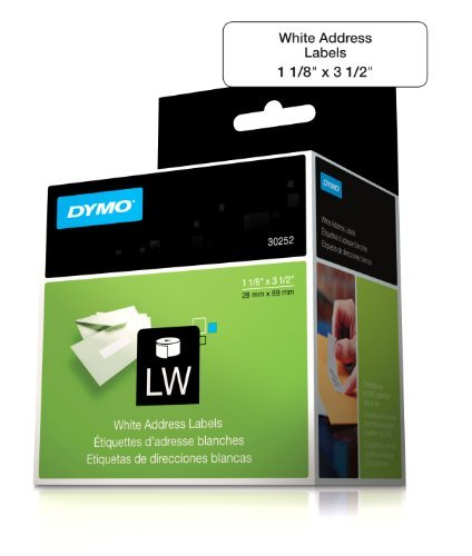 Portable, DYMO 30252 LabelWriter Self-Adhesive Address Labels, 1 1/8- by 3 1/2-inch, White, Roll of 350 Consumer Electronic Gadget Shop by Portable4All