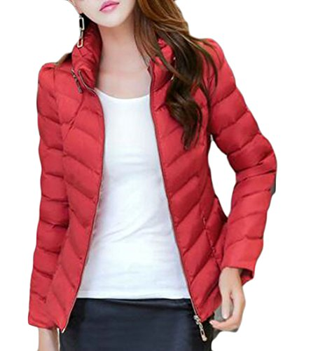 Puffer UK Jacket Women's Down today Quilted Winter Packable Coat Red Outwear Light H7wgq81W