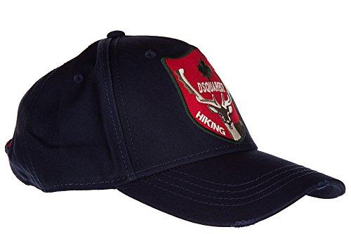 Dsquared2 adjustable men's cotton hat baseball cap gabardine blu by DSQUARED2 (Image #2)