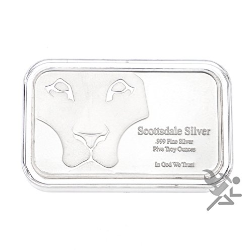 41YRP%2BdOxJL - (25) Premium 5oz Silver Bar Holders by Air-Tite Brand for Scottsdale bars, Silvertowne's Art bars, and Silvertowne's standard 5oz bars. Archival Quality, PVC Free, and Crystal Clear Acrylic protect your investment