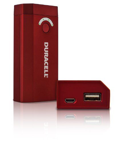 picture of Duracell 4,000 mAH Power bank - Other Chargers - Retail Packaging - Red