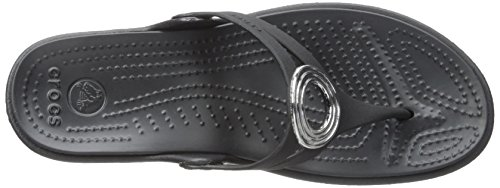free shipping buy sast online Crocs Women's Sanrah Beveled Circle Sandal Black/Black shopping online high quality sale best sale sale free shipping n45bUjm