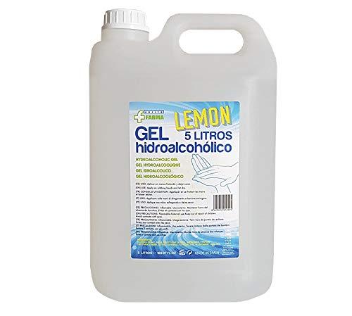 🥇 Gel hidroalcohólico aroma limón 5L. Para manos