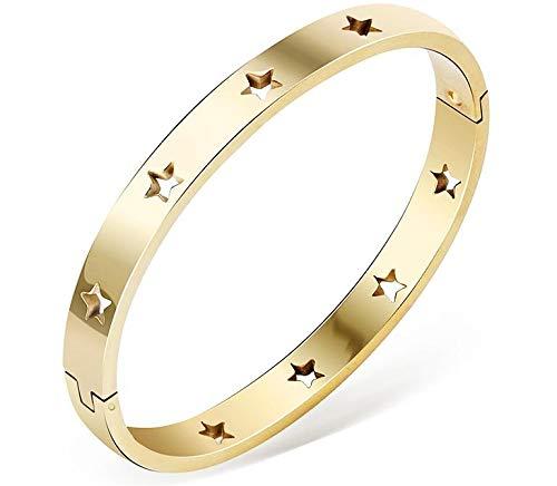 Body Accentz Stainless Steel Stars Bracelet Bangle Women Ladies Bracelets & Bangles in Silver Rose Gold Fashion Jewelry