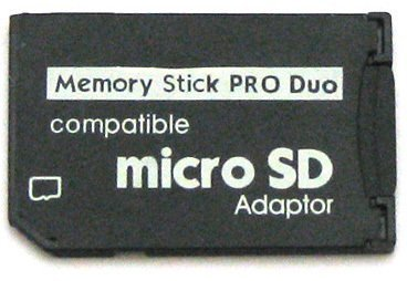 4GB Memory Stick Pro Duo Combo (4GB Micro SD + MS Pro Duo Adapter) by MemoryPack