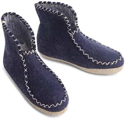 33bffa5646fc07 Egos Copenhagen Felted Wool Slippers - Boots Style Bedroom Slippers for Kids  Junior. 100%