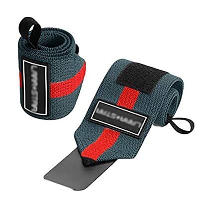 WLQWER Elastic Wrist Support with Strap Unit Fitness Wristband Strength Lifting Pain Relief for Carpal Tunnel Compression Wrist E 60CM Estimated Price £17.58 -