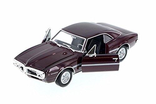 1967 Pontiac Firebird, Burgundy - Welly 22502WR - 1/24 Scale Diecast Model Toy (Firebird Diecast Model Car)