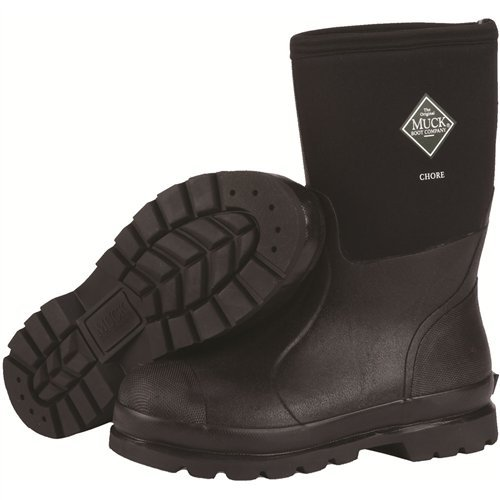 The Original MuckBoots Adult Chore Mid Boot Black Waterproof Snow Muck Boots (Men's 11 M/Women's 12 M)