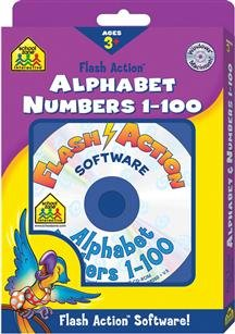 School Zone Flash Action Alphabet/Numbers 1-100 (PC & ()
