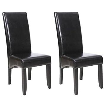 CUBA Lot de 2 chaises de salle a manger - Noir: Amazon.de: Küche ...