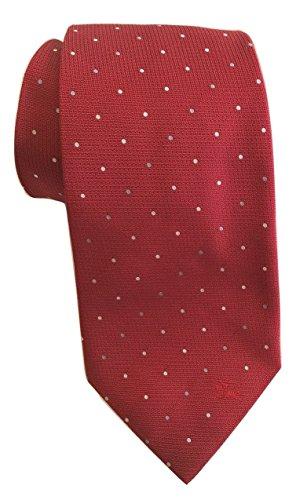 Burberry London Regent Multi Dot Military Red Equestrian Silk (Burberry Necktie)