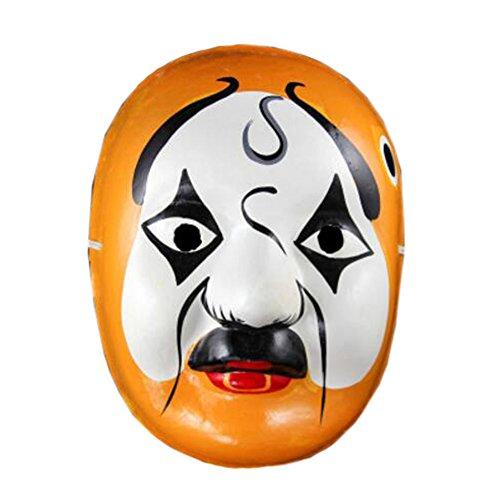 Kylin Express 2PCS Beijing Opera Mask, Chinese Opera Mask, Costume Mask, Face Mask, Cosplay ,#R -