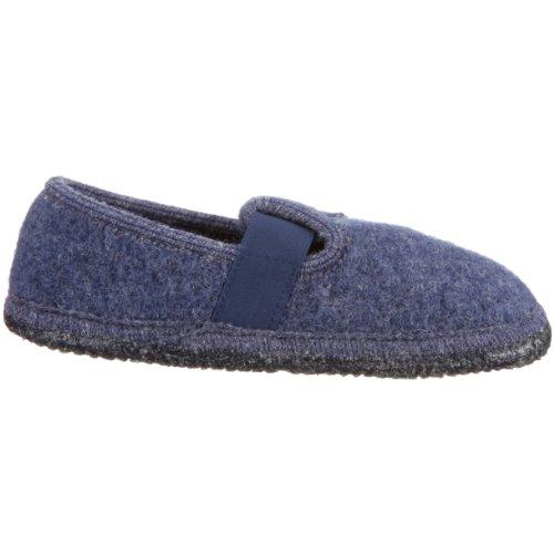 Haflinger Joschi 621002 - Zapatillas de casa de tela para niños Azul (Blau (jeans 72))