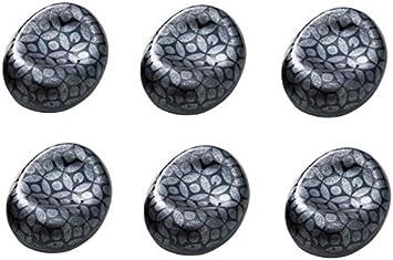 Japan Import Black 15500 Set of 6 Yamako Traditional Japanese Ceramic Chopsticks Rest