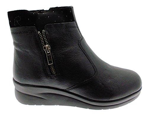 Noir Chaussure De Ancke Femme 75906 Coin Bottes Riposella wa78II