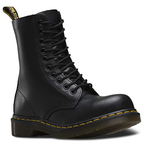 Dr. Martens Classic 1919 Steel Toe Boot,Black Fine Haircell,8 UK (US Men's 9 M/Women's 10 M) (Womens Steel Toe Boots With Metatarsal Guard)
