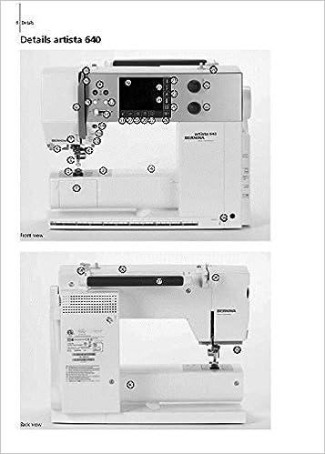 Bernina Artista 630 640 Sewing Machine COPY Reprint User's