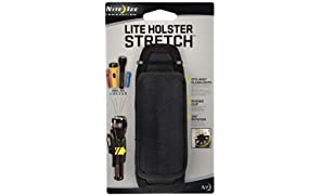 Nite Ize Lite Holster Stretch, Expandable, Secure Flashlight Holder With Belt Clip, Universal Sizing