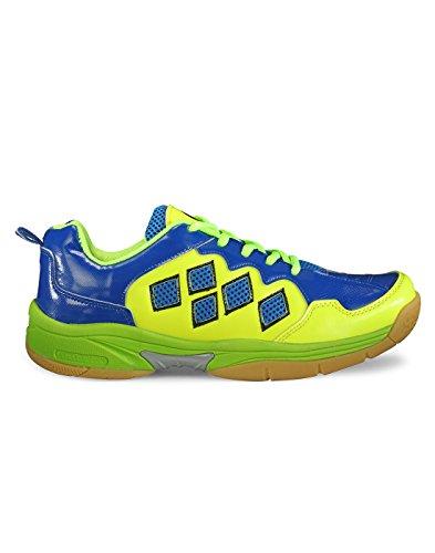 Yepme - Zapatillas de tenis de Material Sintético para hombre multicolor Neon Green & Blue
