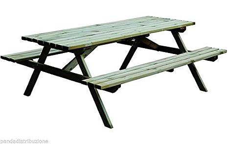 Tavoli / Tavolo con panche Blinky Mod. Primula cm. 179 x 150 x 72 ...