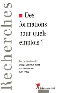 Des formations pour quels emplois ? par José Rose