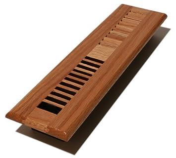 Decor Grates WL214-M Wood Louver Floor Register Medium Oak 2-Inch by 14-Inch
