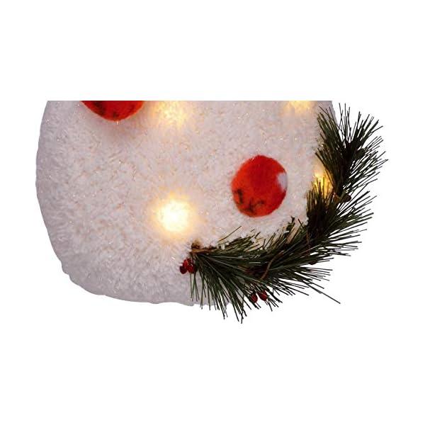 Bambelaa! Pupazzo di neve con luce LED, rosso, decorazione natalizia illuminato, 42 cm, funzionamento a batteria 5 spesavip
