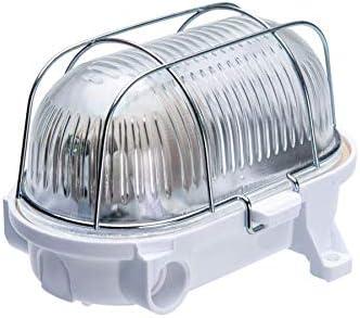Oval 60, ES / E27, Lámpara de luz de mampara de techo/pared, IP54 ...